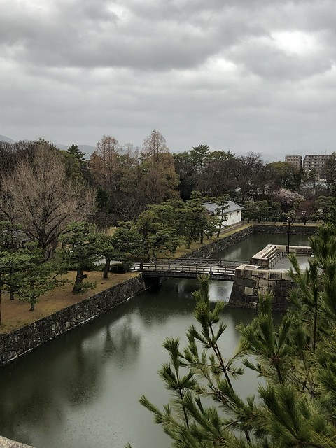 View of the interior mote at Nijo Castle