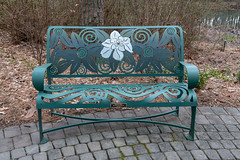 WPA Memorial Bench at Mirror Lake NBG