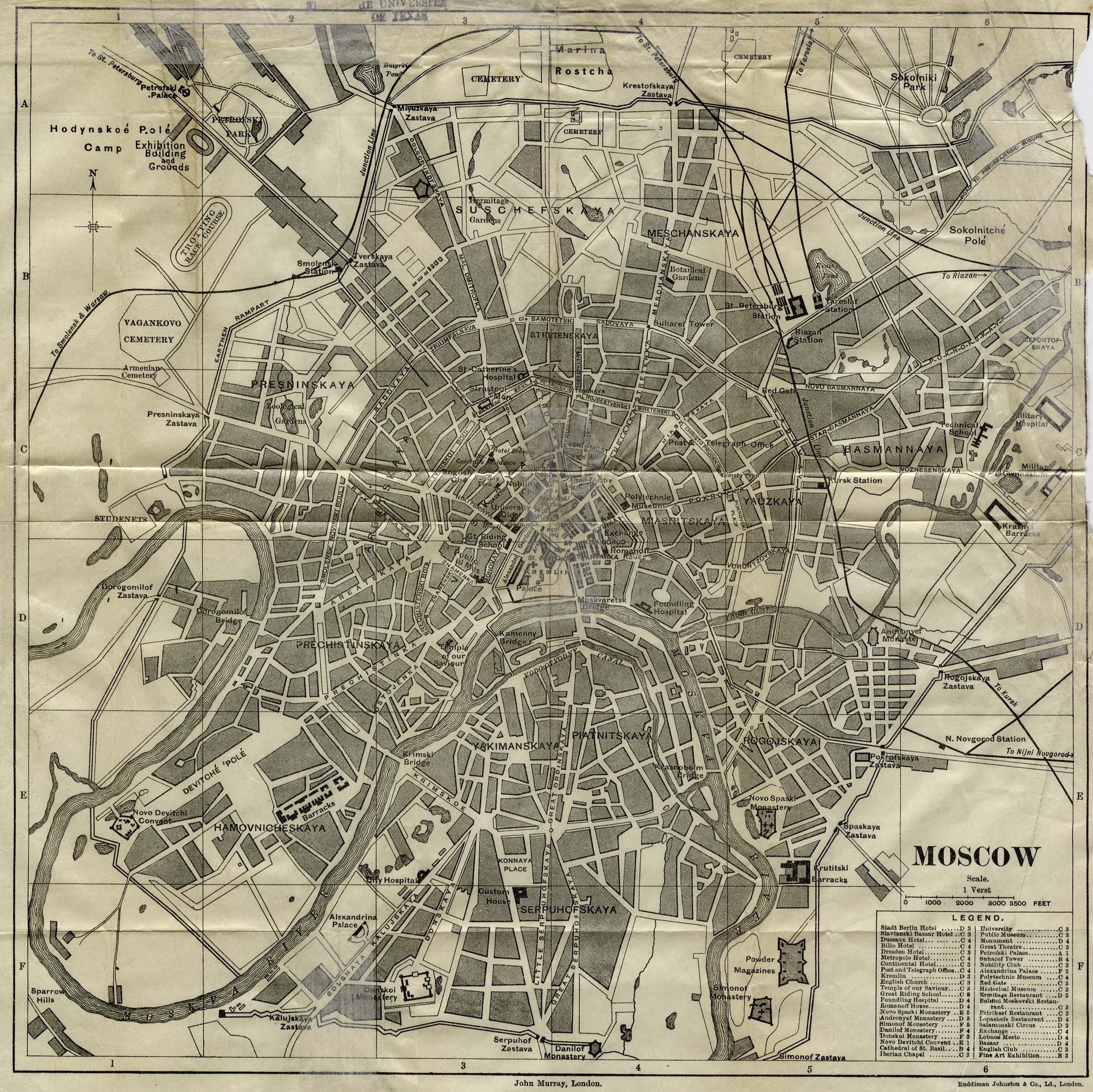 Map of Moscow, 1893