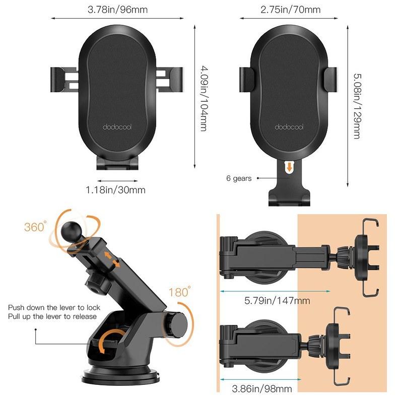 Qi ワイヤレス充電器 車載ホルダー (5)