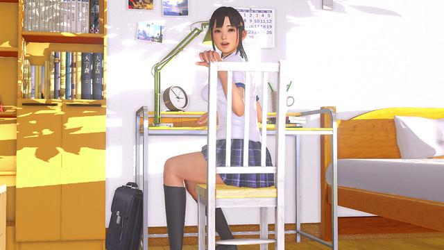 VR Kanojo - Sitzen im Stuhl