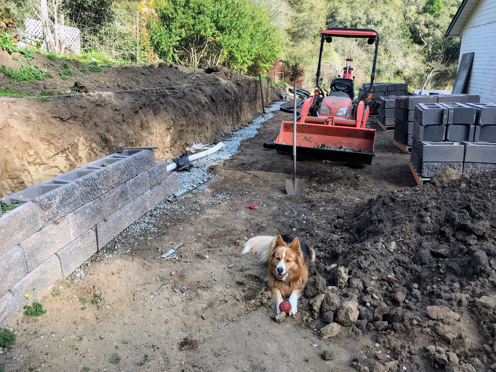 Extending the retaining wall