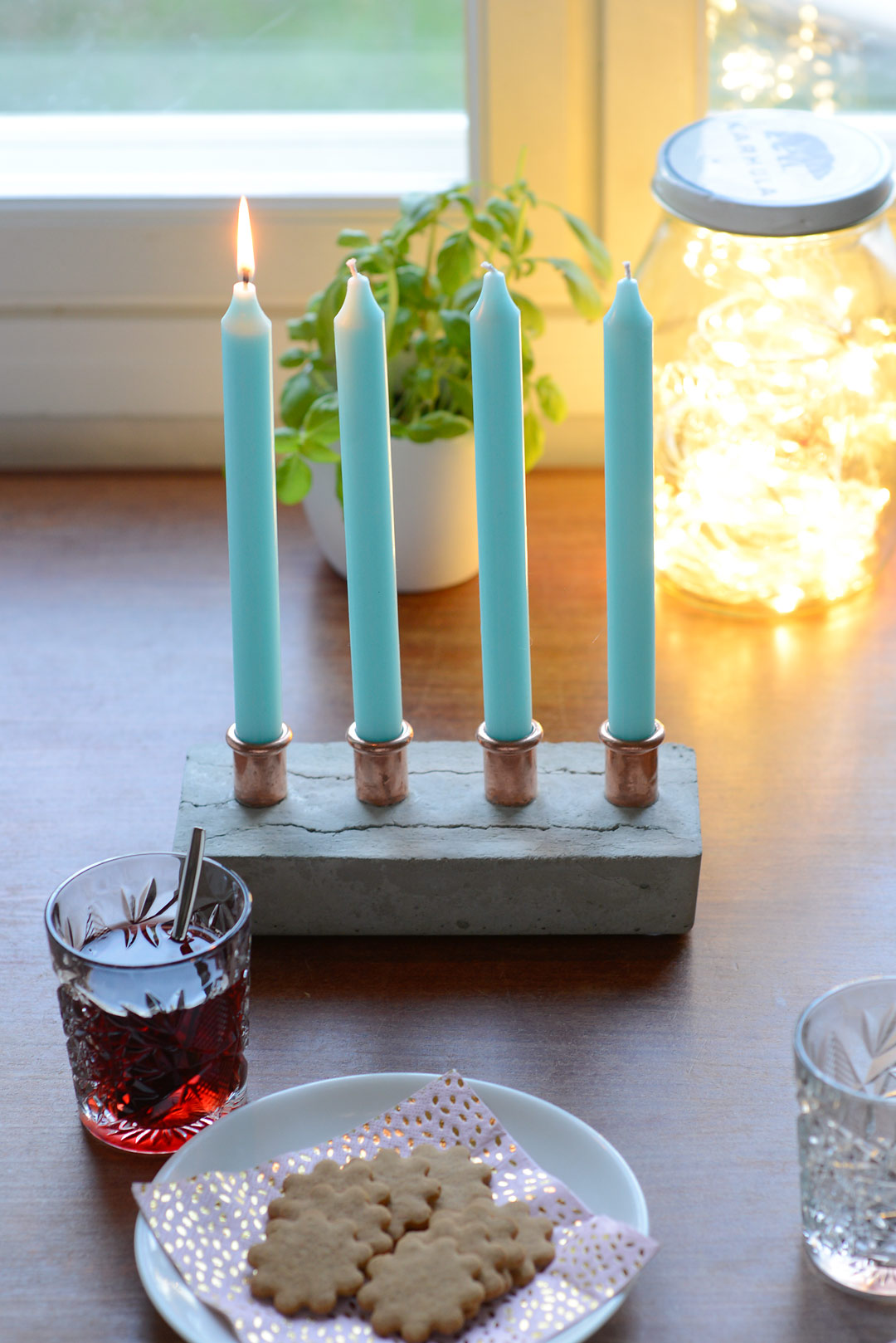 DIY candle holder for advent