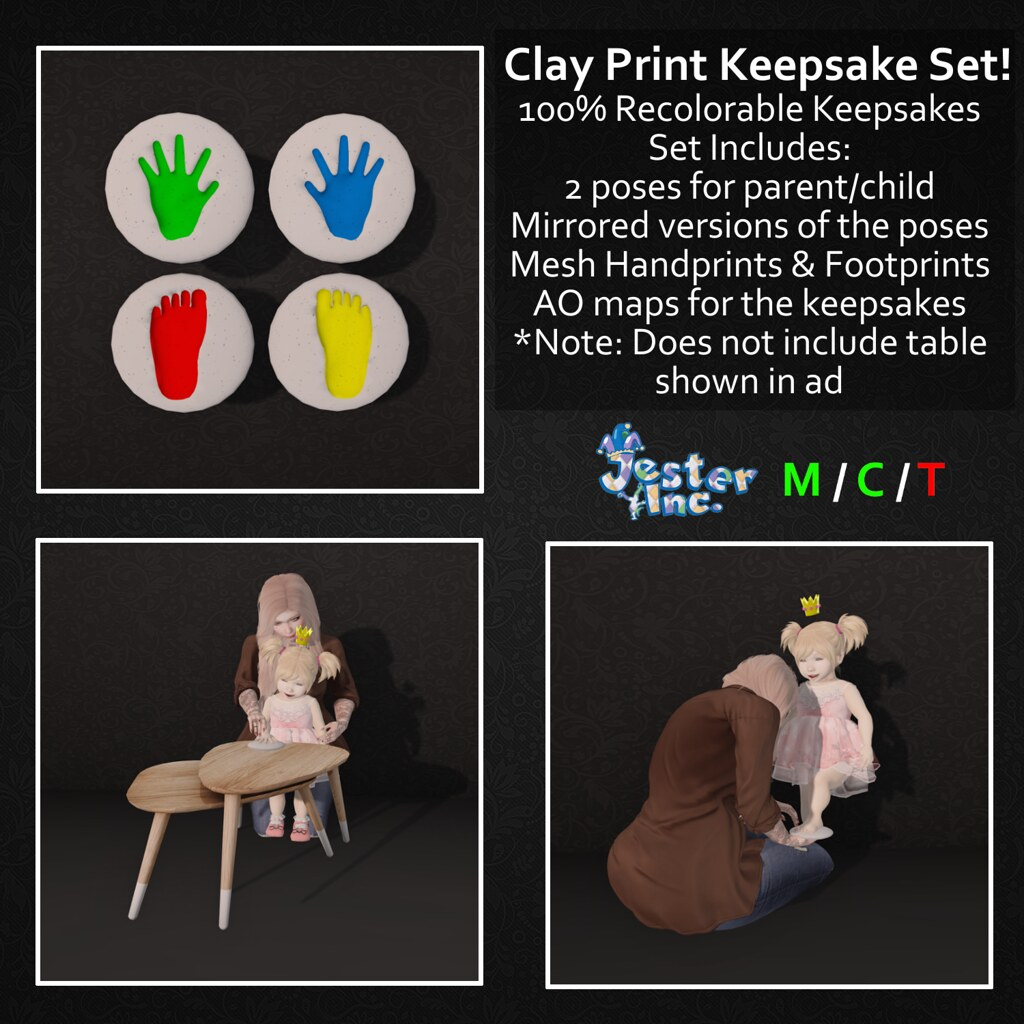 Presenting the Clay Print Keepsake Set from Jester Inc.