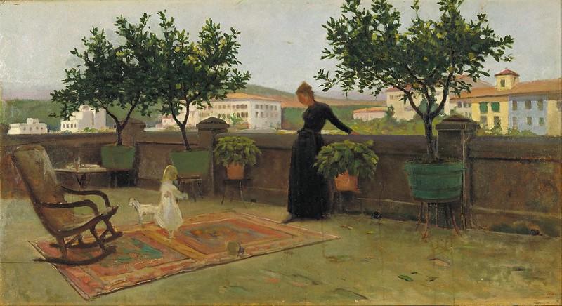 Joaquim Vayreda - Terrace (c.1891)
