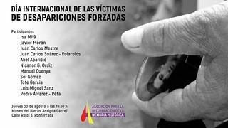 Día internacional de las víctimas de desapariciones forzadas 2018