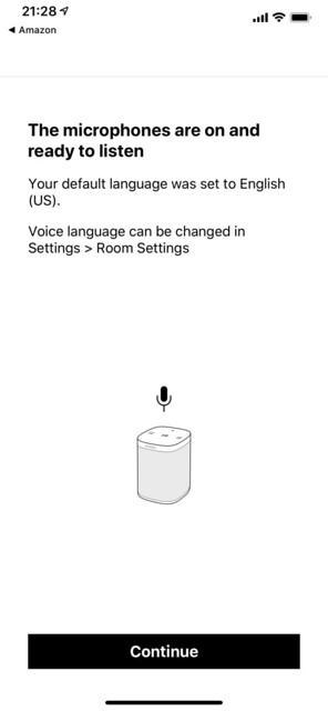 Sonos iOS App - Setup Amazon Alexa - Allow Microphone