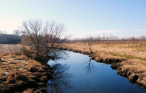 Creek that splits off the Nippersink Creek