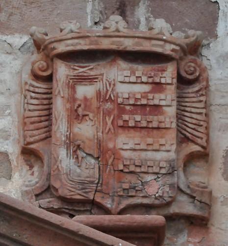El Carpio (Córdoba-España). Iglesia de la Asunción. Portada. Escudo de los marqueses de El Carpio (Haro y Sotomayor)