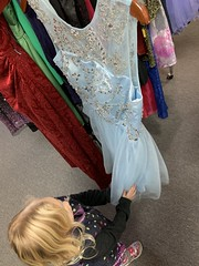 Madeleine really liked this dress at the consignment store