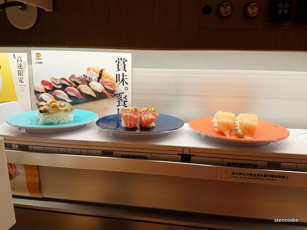 sushi on sushi train
