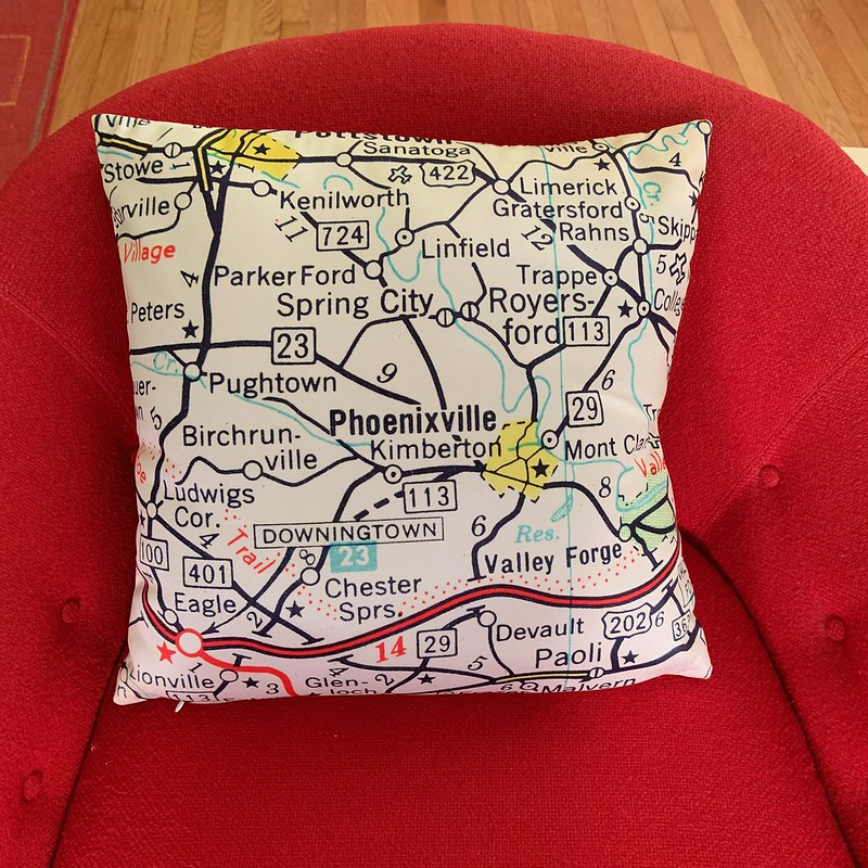 Phoenixville pillow cover from Mad Mama Vintage!