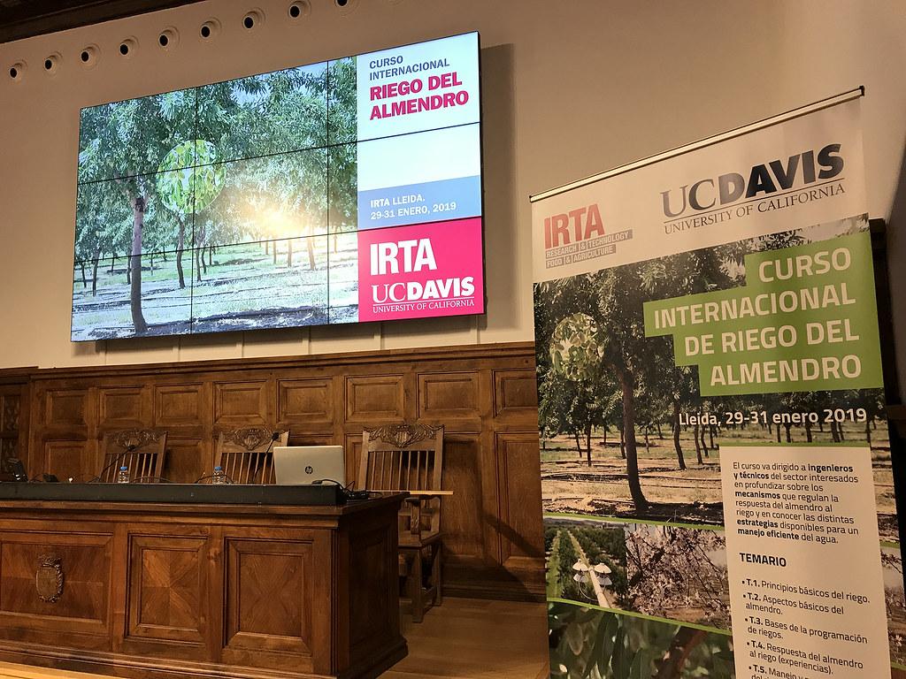 Curso Internacional de Riego en Almendro IRTA-UCDavis 2019