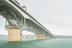 311.364.2018 Auckland Harbour Bridge in the Rain, Auckland Harbour, New Zealand