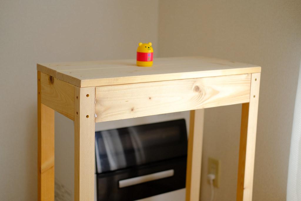 食洗機を置く自作の台