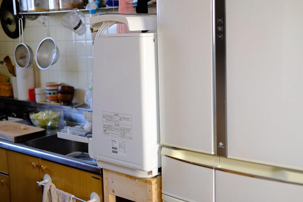 食洗機の設置 冷蔵庫からのはみ出し
