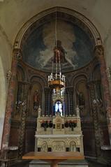 Chœur, église romane Saint Martin (XIIe), Arces, Saintonge, Charente-Maritime, Nouvelle-Aquitaine. - Photo of Grézac