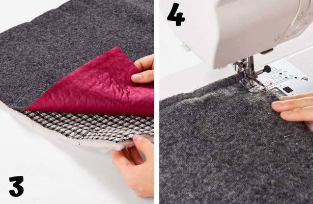 DIY Quilted Scarf Steps 3 4