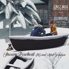 Snowy Rowboat CHEZ MOI