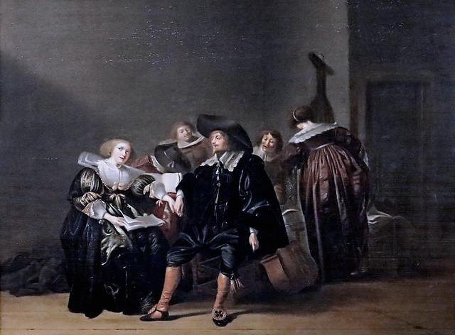 Photo:IMG_1050 Pieter Codde 1599-1678 Amsterdam Musizierende Gesellschaft Music making company Compagnie musicale Schwerin.Staatliches Museum By jean louis mazieres