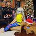 Barbie Mermaid 1991 doll, Barbie Spaniel pet