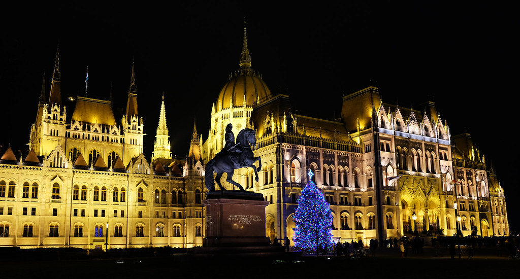 Holiday spirits in Budapest, Hungary