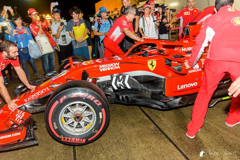 Sebastian Vettel's Scuderia Ferrari SF71H