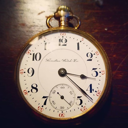 There are times when Christmas hits you between the eyes. My parents gave me this beautiful pocket watch...which belonged to my grandfather, whom I never met. He died in 1949, twenty-two years before I was born. I never knew it even existed, so far as I c