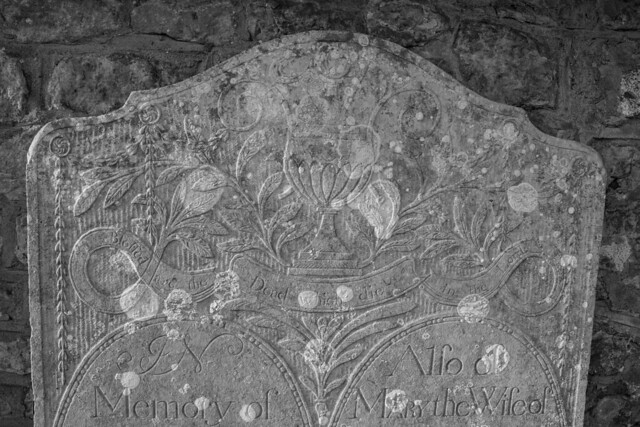 Detail of 1802 headstone, Hammoon