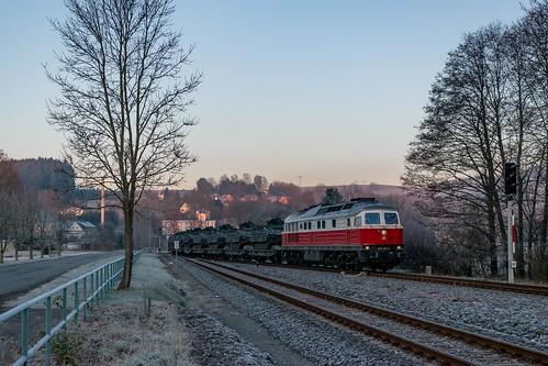 232 401 mit M 62571 in Pockau-Lengenfeld