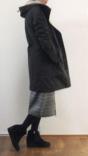 doclasseドゥクラッセ ツイード調・Aラインスカート着画2