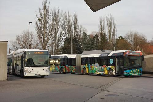 Irisbus Citelis 18 n°352 & Solaris Urbino 18 IV n°704  -  Strasbourg, CTS