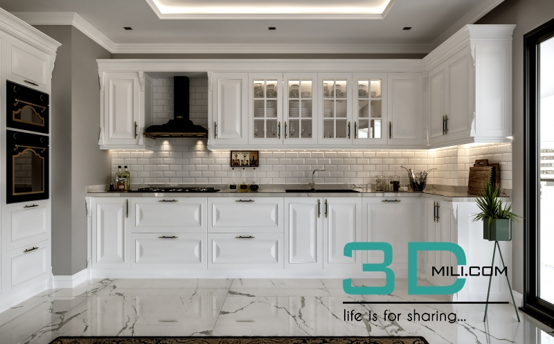 Kitchen Classic 3d Mili Download 3d Model Free 3d Models 3d