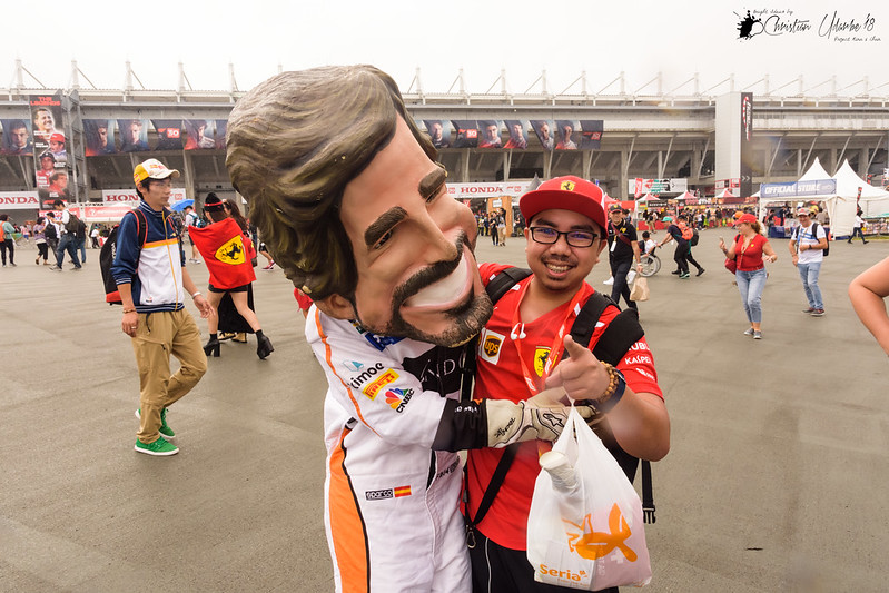 With Fernando Alonso (Uhm, Close Enough!)