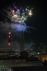 Fireworks at Reunion Tower