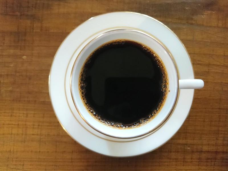 喫茶路地でデミタス(コロンビア)。2019年1月4日。