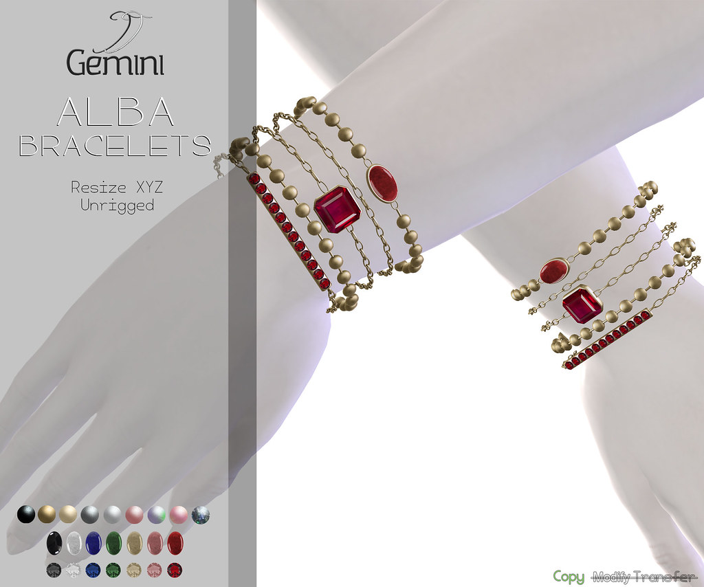 Gemini -Alba Bracelets- Available @ Dubai Event until Jan 10th•
