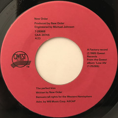 NEW ORDER:PERFECT KISS(LABEL SIDE-A)