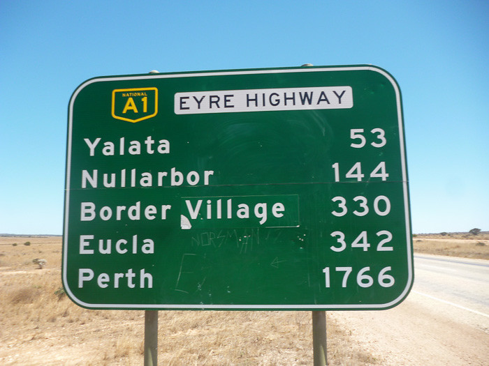 Start of the Nullarbor