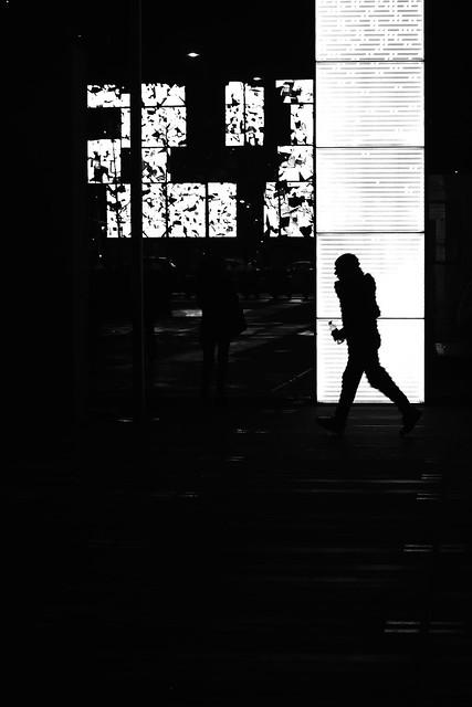 Running along the wall
