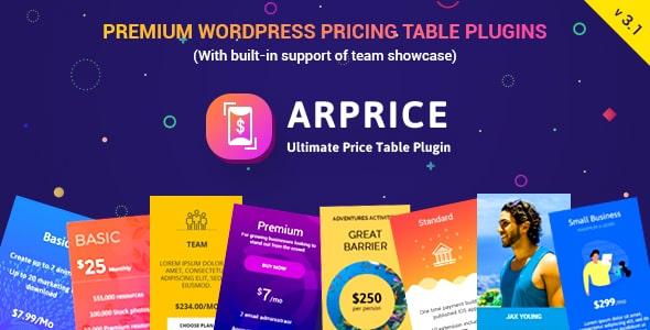 ARPrice v3.1 - Ultimate Compare Pricing table plugin