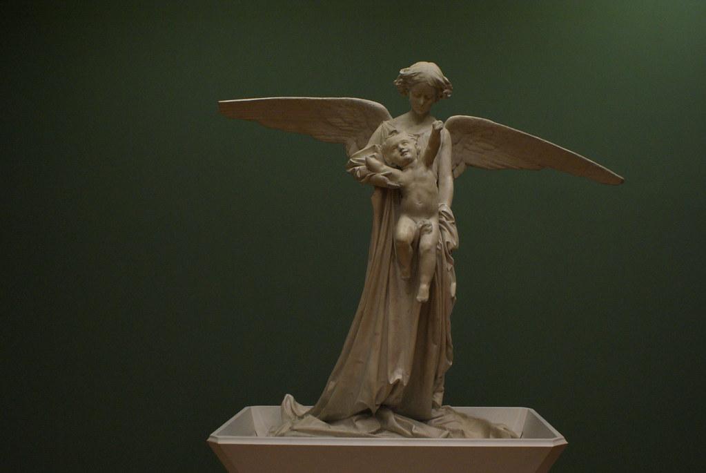 Statue funéraire de Tito Pallestrini (1856) de Vincenzo Vela - GAM, musée d'art moderne de Turin.