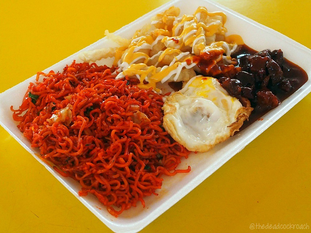 adam road food centre, food, food review, ibrahim mee stall, maggi goreng, maggi goreng special, review, singapore, singapore botanic garden, cheese fries,mutton steak,fried egg,halal,halal food,malay,malay food,muslim food,muslim