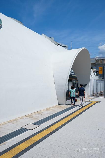 Exterior view of Shin-Hakushima Station (アストラムライン新白島駅)
