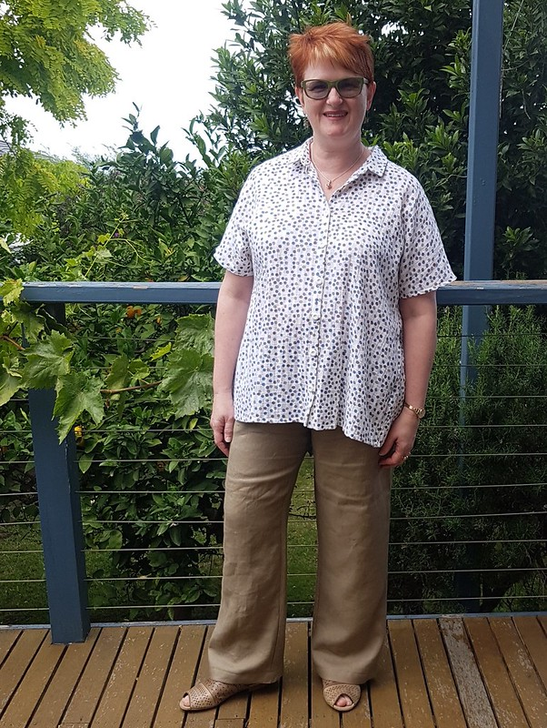 Style Arc Martha overshirt and Tessa pants