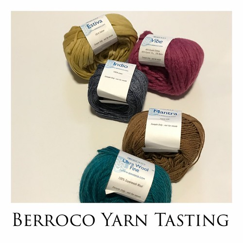 Berroco Yarn Tasting Event - Saturday, March 16, 2019 - 6:30 pm - 10 pm