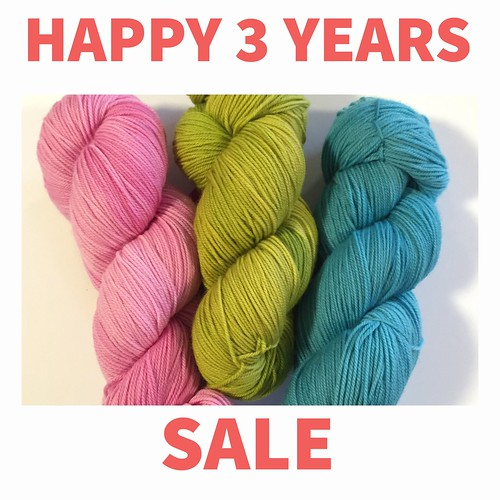Saturday, November 10, 2018 is the last day to take advantage of the sale!! Use the discount code HAPPY3YEARS at checkout online or come in to the shop. We are open until 4pm but you have until 12:59pm online!