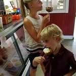 Thu, 09/20/2018 - 2:33pm - Eating caramel apples Dougherty Orchard   NS
