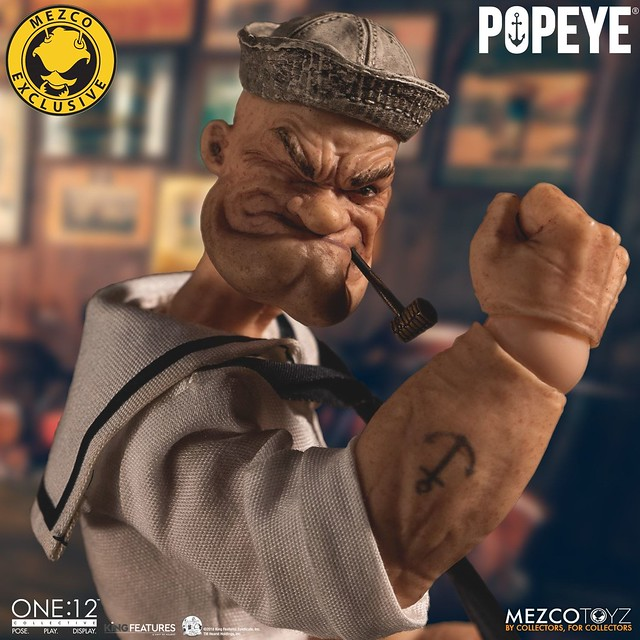換上新裝再度歸來! MEZCO ONE:12 COLLECTIVE 系列【卜派 - 豪華水手版本】Popeye - Deluxe Sailor Edition 1/12 比例人偶作品【MEZCO官網限定】