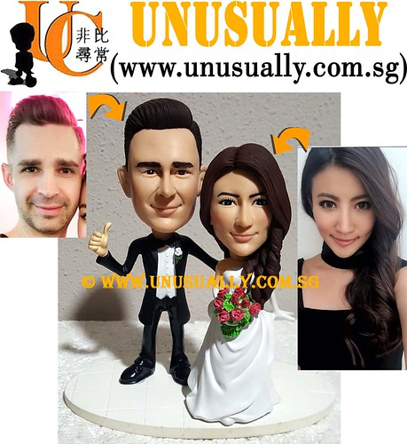 Unusually Creation Custom 3D Sweet Lovely Fashionable Wedding Couple Figurines - © www.unusually.com.sg